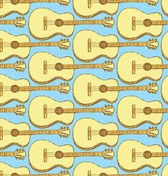 Sketch guitar musical instrument vector image vector image