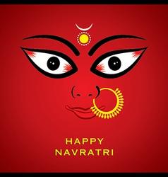 Happy diwali or navratri festival greeting card vector