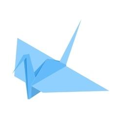 Origami paper crane vector