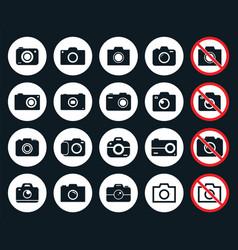 photo camera icons vector image