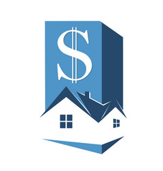 sale and rental housing symbol vector image