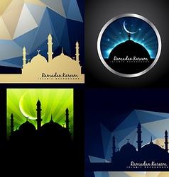 set of creative background of eid festival of vector image