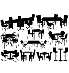 tables and chairs vector image