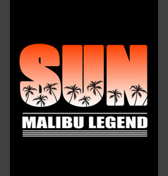 tropical palm trees silhouettes vector image