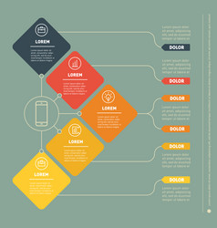 Business presentation concept with five options vector