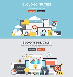 Flat design concept banner Cloud computing vector image vector image