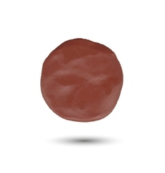 piece of brown clayround spot vector image vector image