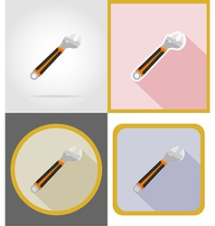 repair tools flat icons 13 vector image vector image