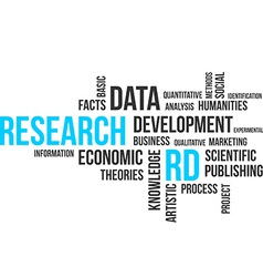 word cloud research vector image vector image