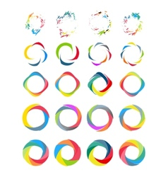 Color circle set vector image