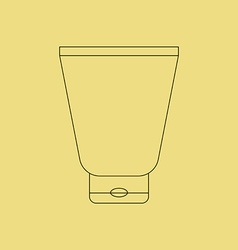 Cream tube icon vector