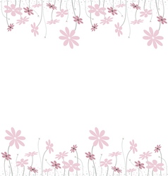 pink flowers1 vector image vector image