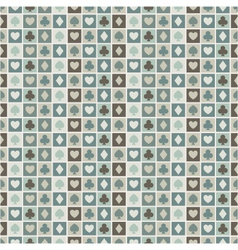 seamless background of card suits hearts vector image vector image