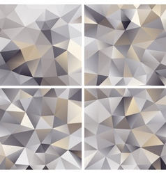 Set of Abstract Triangle Backgrounds vector image vector image