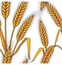 wheat field Seamless pattern vector image