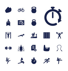 22 training icons vector