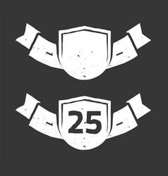 25 years anniversary logo award ribbon icon vector image