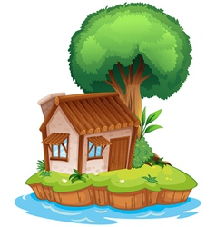 A house on an island vector image vector image
