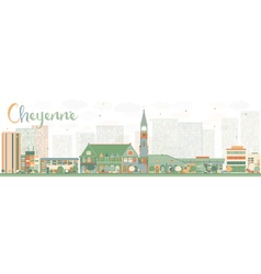 Abstract Cheyenne Wyoming Skyline vector image