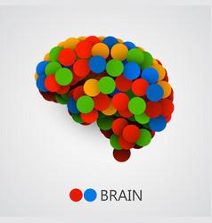 Abstract creative concept brain made vector