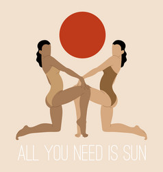 All you need is sun hand drawn of vector