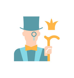 aristocratic elite flat color icon vector image