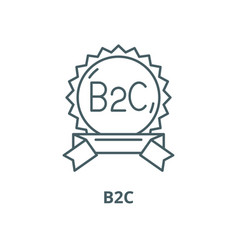 B2c line icon linear concept outline sign vector