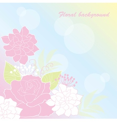 background rose vector image vector image