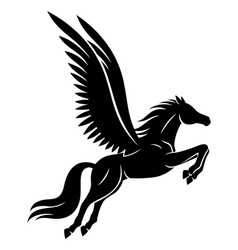 beautiful black pegasus sign vector image
