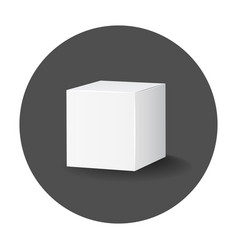blank white carton 3d box icon box package mockup vector image