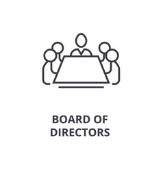 Board of directors line icon outline sign linear vector