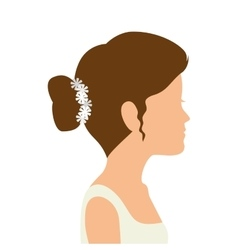 Bride woman dress wedding vector