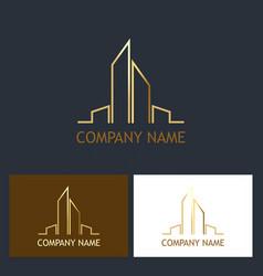 Building cityscape logo vector