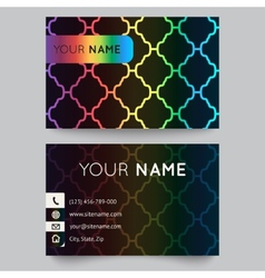 Business card template bright elegant pattern on vector