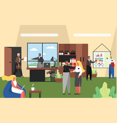 business people working in office flat vector image