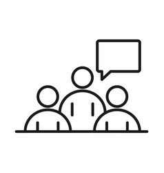 Businesspeople team meeting business management vector