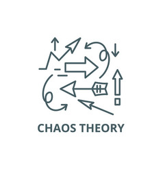 Chaos theory line icon chaos theory vector