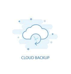 cloud backup line concept simple line icon vector image