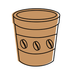 Coffee to go vector