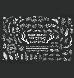collection hand drawn design elements vector image