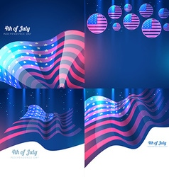 creative set of american independence day vector image