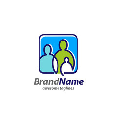 creative simple family logo concept vector image