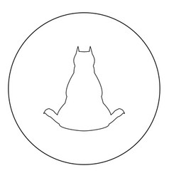 Dog from back view icon black color in circle vector