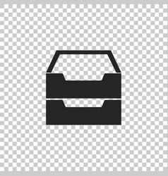 drawer with documents icon isolated vector image