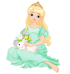 Easter princess vector image