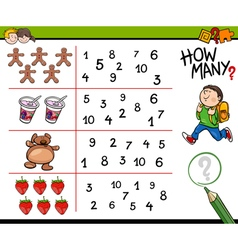 Educational counting activity for kids vector