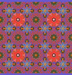 fabric pattern texture daisy flowers detail vector image
