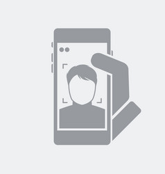 Face identification for smartphone access vector
