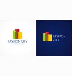 fashion city logo vector image
