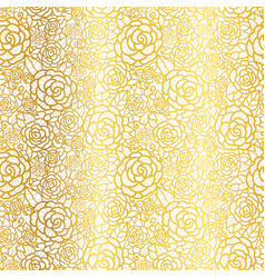 Golden lace roses seamless repeat pattern vector